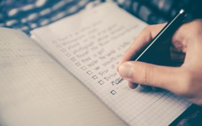 Checklist for writing a will